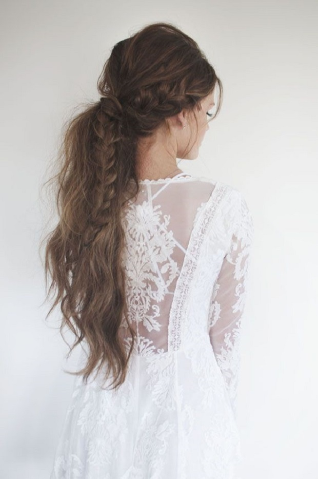Loose braid and lace