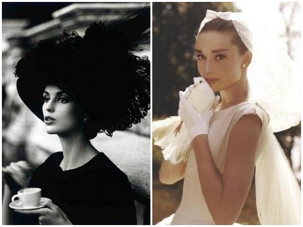 Audrey Hepburn and Vintage hat women 620