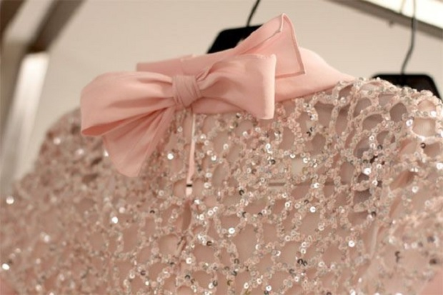 Bow and sequins
