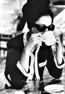 Chanel and coffee in Paris