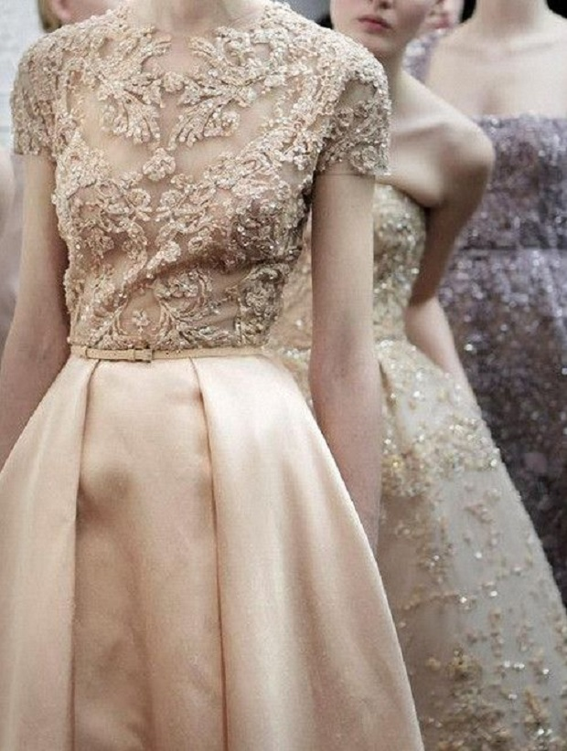 Delicate pink dresses