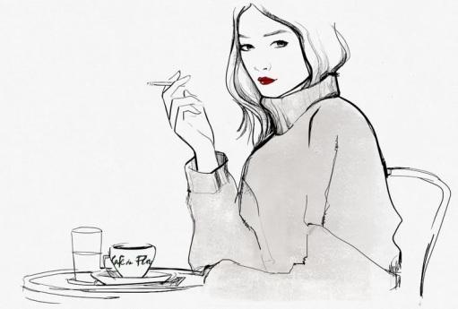 Garance Doré at the Café de Flore