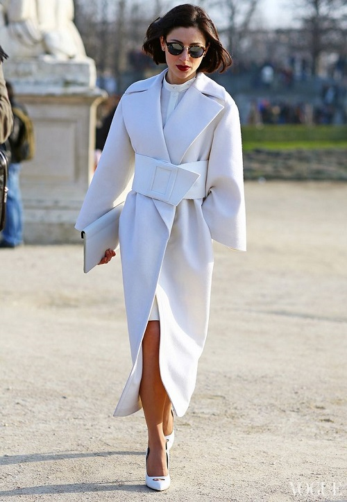 Immaculate white coat