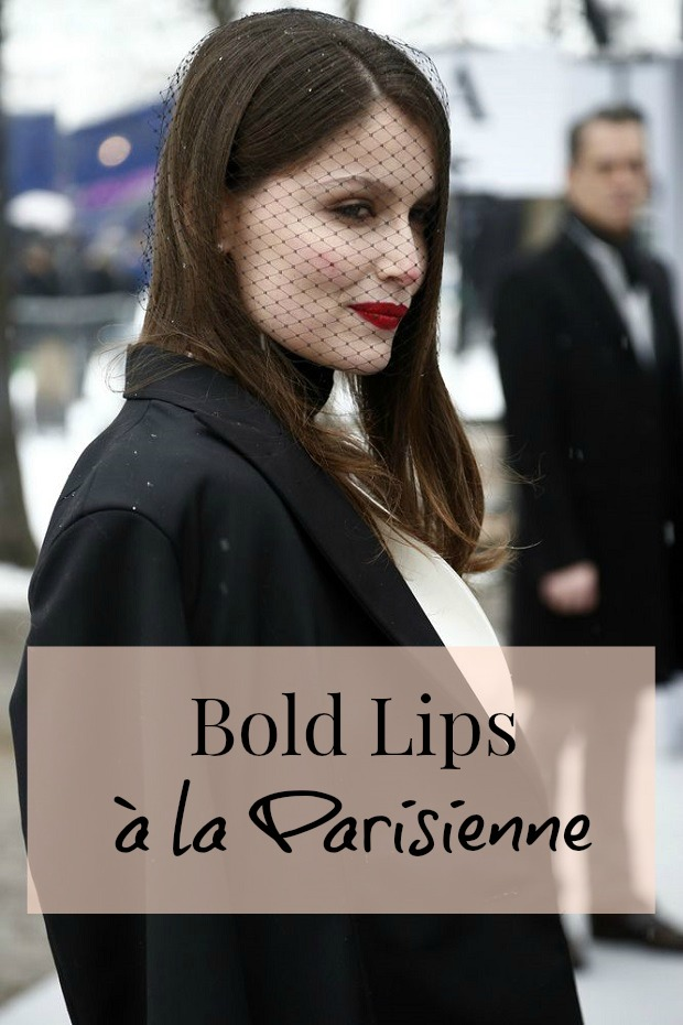 Leatitia Casta bold lips parisienne