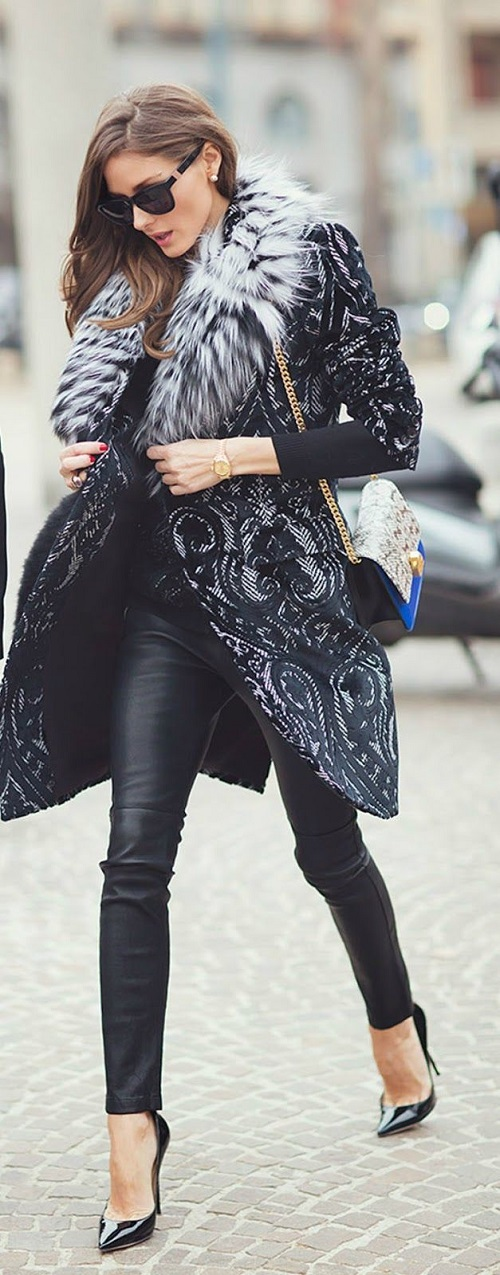 Olivia Palermo Dramatic coat
