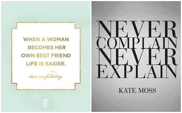 Quote DVF  and Kate Moss 620