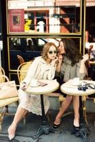 Women Gossiping at a Parisian Café