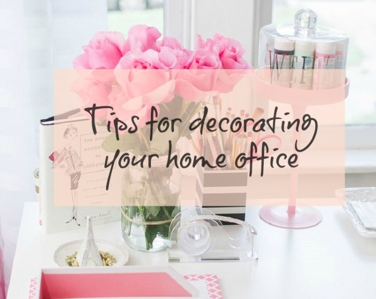 7 tips for decorating your home office + desk