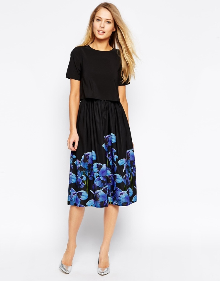 Asos Knee lenght floral dress
