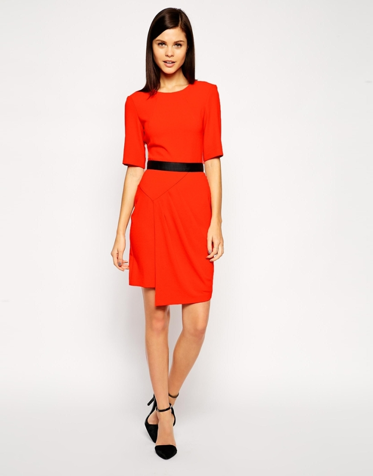 Asos - Orange asymtric dress