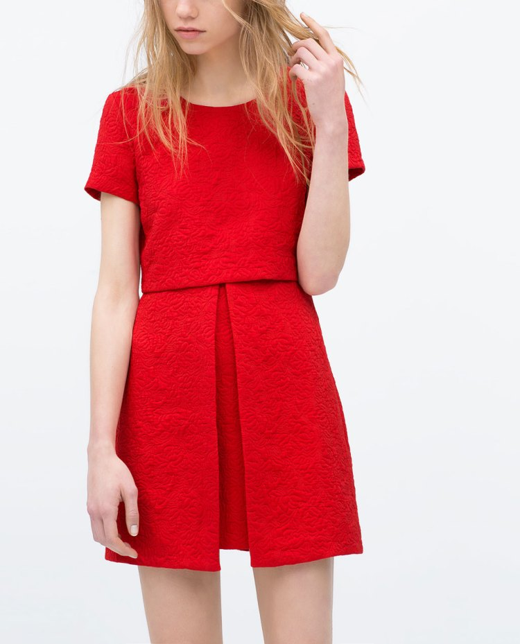 Zara asymetric scarlet red dress
